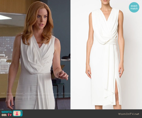 Jason Wu Draped Fitted Dress worn by Sarah Rafferty on Suits