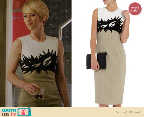Jason Wu Embellished Two-Tone Tweed Dress worn by Karine Vanasse on Revenge