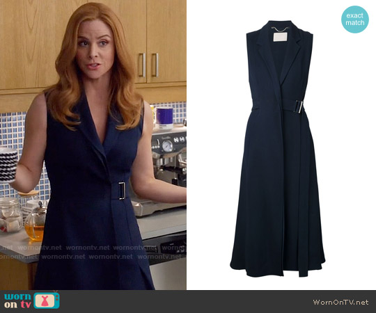 Jason Wu Flared Belted Dress worn by Sarah Rafferty on Suits