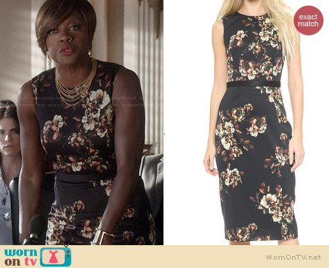 Jason Wu Floral Crepe Dress worn by Viola Davis on HTGAWM