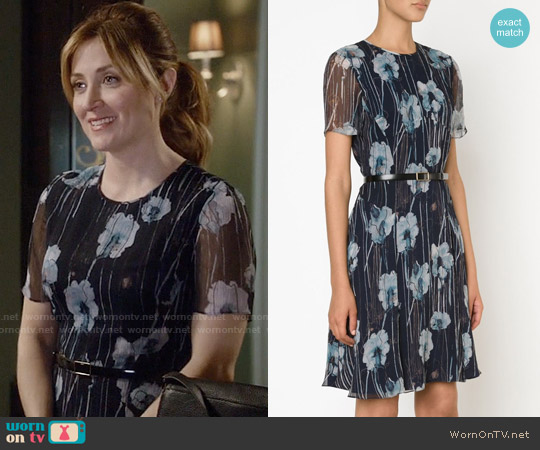 Jason Wu Floral Dress worn by Sasha Alexander on Rizzoli & Isles