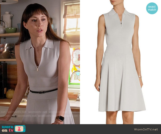Jason Wu Sleeveless Polo Dress with Flounce Hem worn by Troian Bellisario on PLL