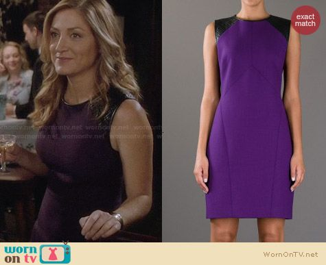 Jason Wu Purple Quilted Panel Dress worn by Sasha Alexander on Rizzoli & Isles