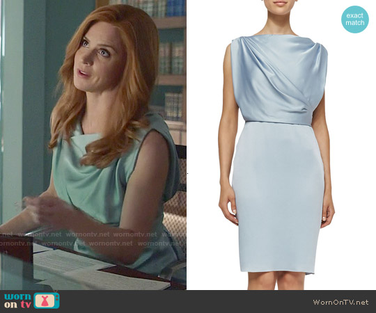 Jason Wu Sleeveless Sheath Dress with Draped Back worn by Sarah Rafferty on Suits