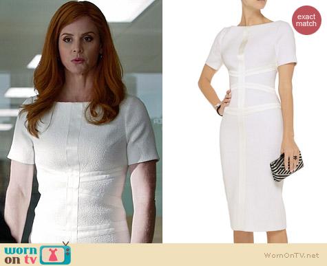 Wornontv Donna S White Tweed Dress On Suits Sarah