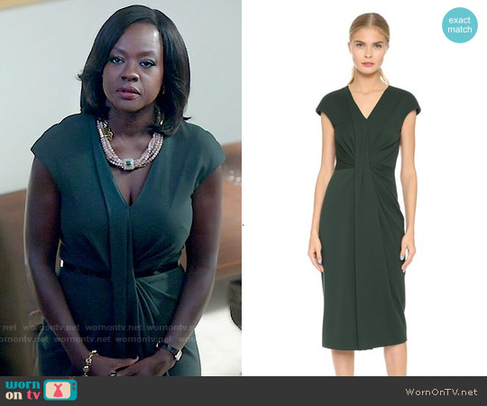 Jason Wu Twist Drape Sheath Dress worn by Viola Davis on HTGAWM