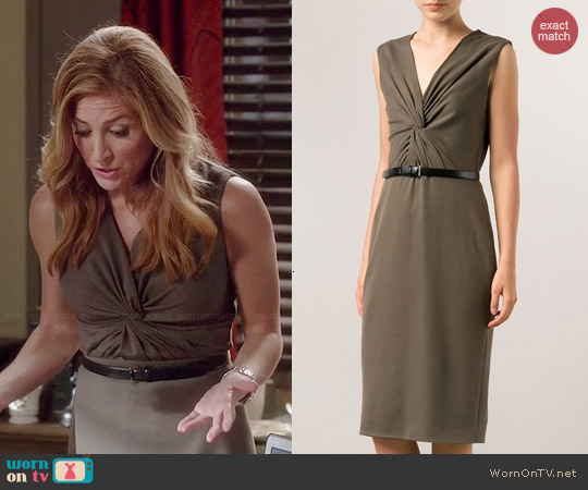 Jason Wu Twist Front Midi Dress worn by Sasha Alexander on Rizzoli & Isles