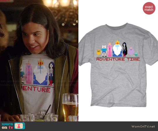 JC Penney Novelty Adventure Time Pixel Tee worn by Carlos Valdes on The Flash