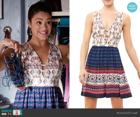 Jealous Tomato Tie Back Dress worn by Gina Rodriguez on Jane the Virgin