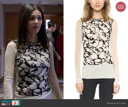 Jean Paul Gaultier Long Sleeve Sweater worn by Victoria Justice on Eye Candy