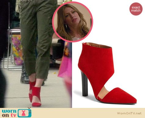 Jeffrey Campbell Barnes Bootie in Red Suede worn by Jess Macallan on Mistresses