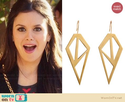 Jennifer Fisher Brass Galactic Earrings worn by Rachel Bilson on Hart of Dixie