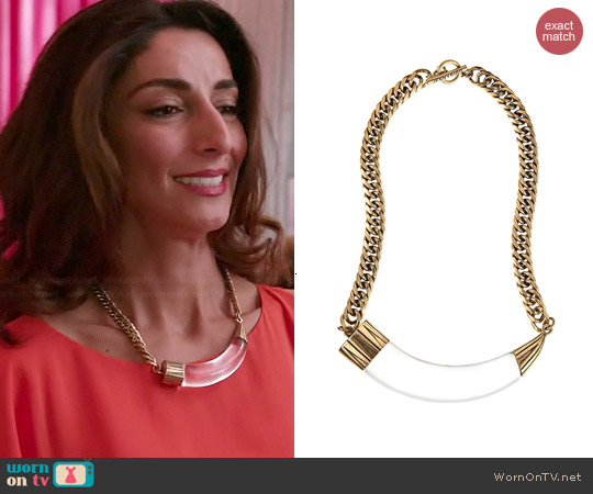 Jenny Bird Hark! Horn Collar Necklace worn by Necar Zadegan on GG2D