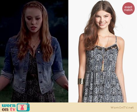 Jessica Hamby Fashion: Mimi Chica Lace Insert Maxi dress worn on True Blood