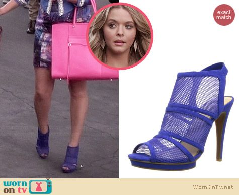 Jessica Simpson Fedelle Pumps in Symphony Blue worn by Sasha Pieterse on PLL