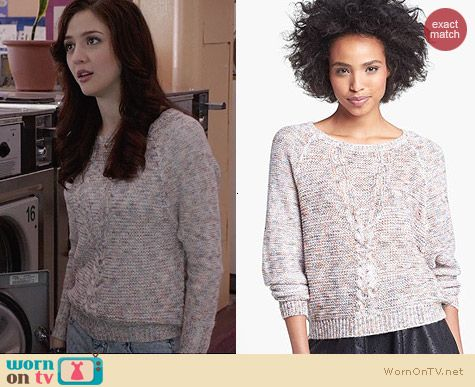 Jessica Simpson Pathe Sweater worn by Maggie Landers on The Carrie Diaries