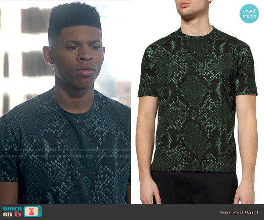 Jil Sander Python Print T-shirt worn by Bryshere Y. Gray on Empire