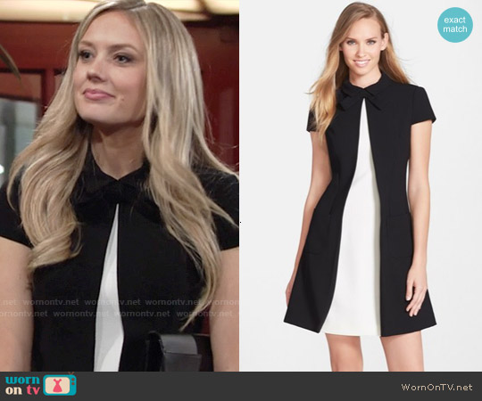 Jill Stuart Crepe A-Line Dress worn by Melissa Ordway on The Young & the Restless