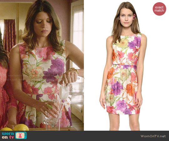 Jill Stuart Floral Print Dress worn by Andrea Navedo on Jane the Virgin