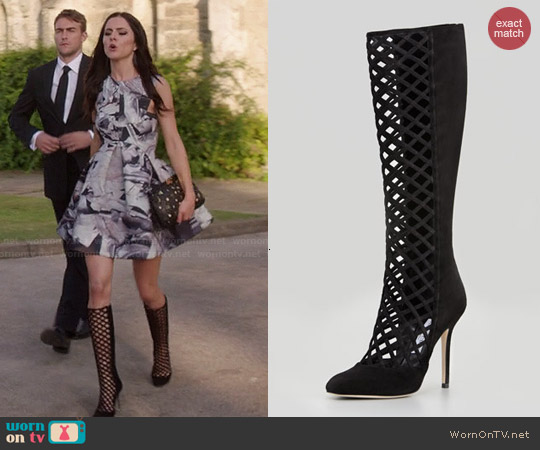 Jimmy Choo Delta Cutout Boots worn by Alexandra Park on The Royals