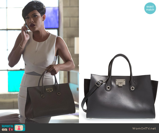 Jimmy Choo Riley Tote worn by Anika Calhoun on Empire