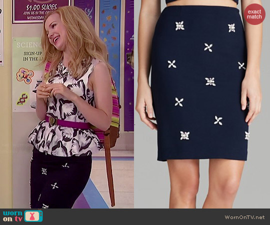 JOA Jeweled Skirt worn by Dove Cameron on Liv & Maddie