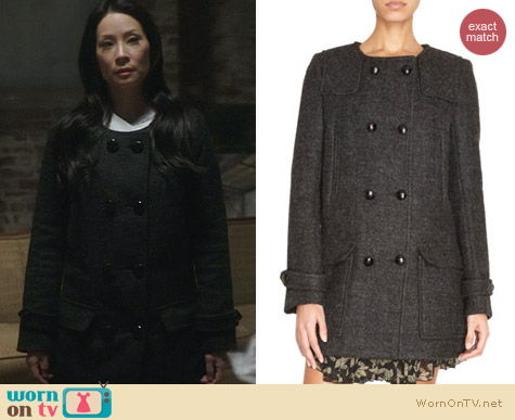 Joan Watson Fashion: Isabel Marant Clifford Coat worn on Elementary