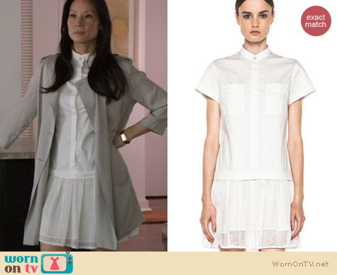 Joan Watson Fashion: Rag & Bone Adele Dress worn by Lucy Liu