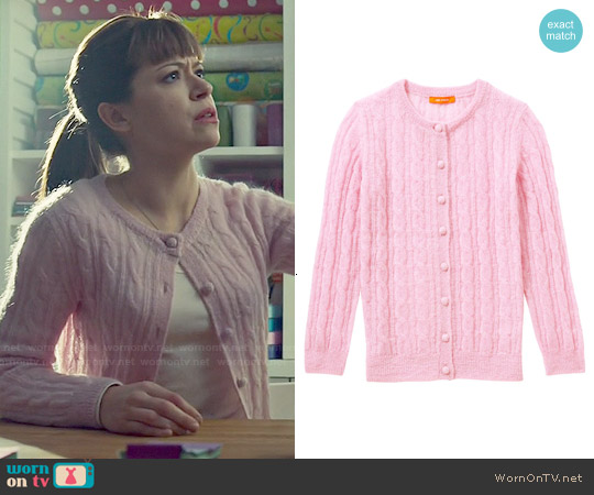 Joe Fresh Mohair Cable Knit Cardigan worn by Tatiana Maslany on Orphan Black
