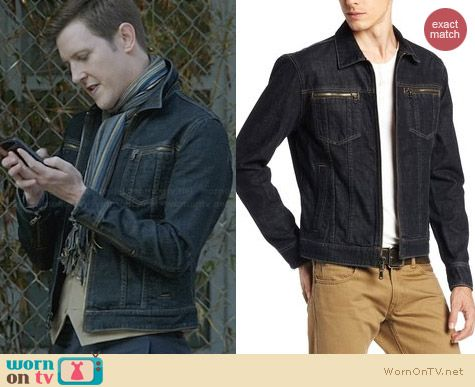 John Varvartos Denim Jacket worn by Gabriel Mann on Revenge