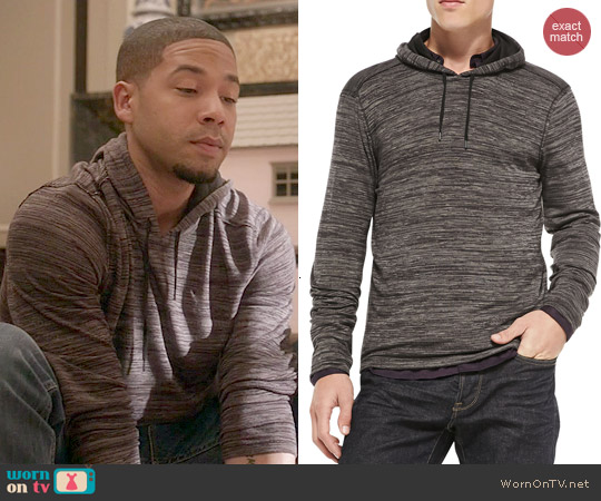 John Varvatos Raw Edge Cut-Print Pullover Hoodie worn by Jussie Smollett on Empire