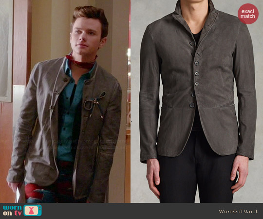 John Varvatos Button Front Jacket worn by Chris Colfer on Glee