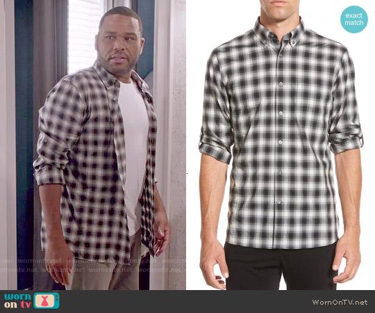 John Varvatos Check Sport Shirt worn by Anthony Anderson on Blackish