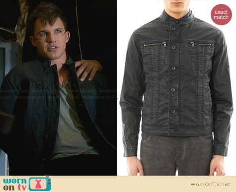 John Varvatos Coated Denim Jacket worn by Matt Lanter on Star-Crossed