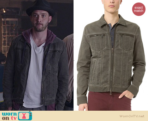 John Varvatos Denim Style Jacket worn by Eddie Kaye Thomas on Scorpion