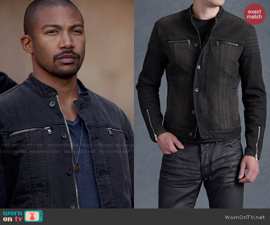 John Varvatos Denim Trapunto Jacket worn by Charles Michael Davis on The Originals