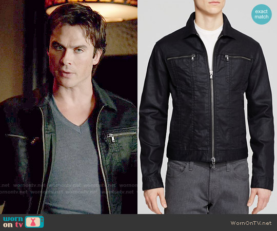 John Varvatos Denim Zipper Jacket worn by Ian Somerhalder on The Vampire Diaries