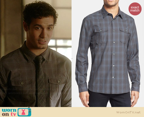 John Varvatos Luxe Plaid Shirt worn by Elyes Gabel on Scorpion