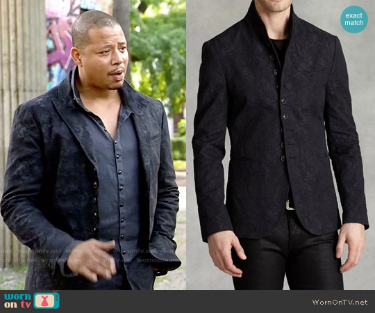 John Varvatos Peak Lapel Multi-Button Jacket worn by Terrence Howard on Empire