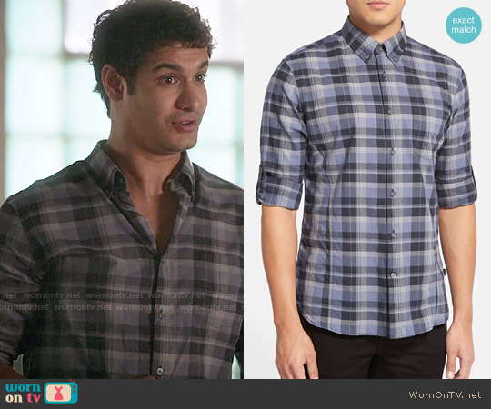 John Varvatos Plaid Sports Shirt worn by Elyes Gabel on Scorpion