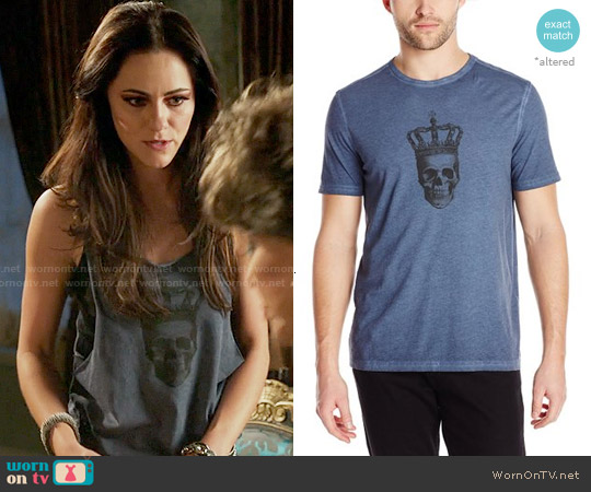 John Varvatos Skull with Crown Graphic T-Shirt worn by Alexandra Park on The Royals