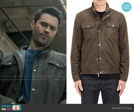 John Varvatos Star USA Leather Jacket worn by Brett Dalton on Agents of SHIELD