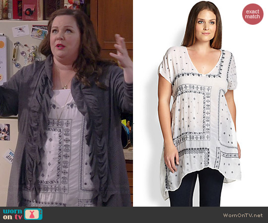 Johnny Was Bandana Tunic worn by Melissa McCarthy on Mike & Molly