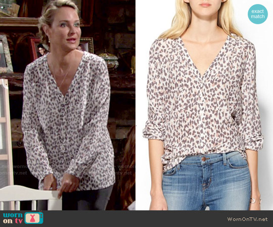 Joie Michi Blouse worn by Sharon Case on The Young & the Restless