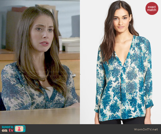 Joie 'Aceline' Top in Lagoon worn by Alison Brie on Community