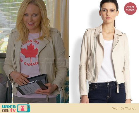 Joie Ailey Jacket in Natural worn by Malin Akerman on Trophy Wife