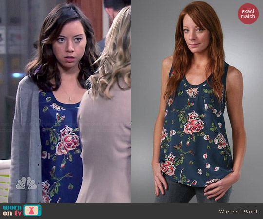 Joie Alicia Tank worn by Aubrey Plaza on Parks & Rec
