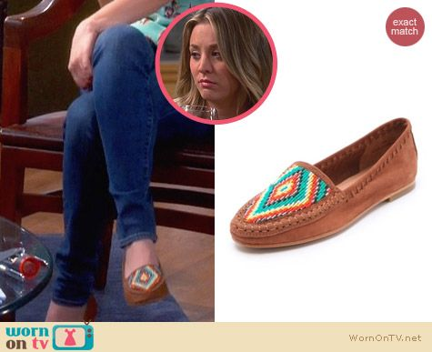 Joie Aliso Beaded Moccasins worn by Kaley Cuoco on The Big Bang Theory