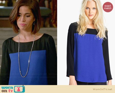 Joie Aliso Colorblock Top worn by Ana Ortiz on Devious Maids