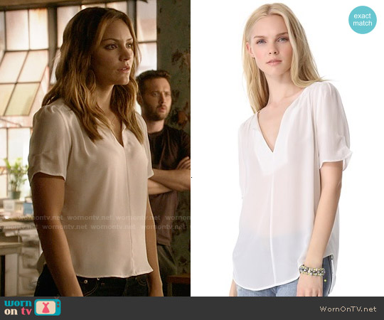 Joie Amone Blouse worn by Katharine McPhee on Scorpion